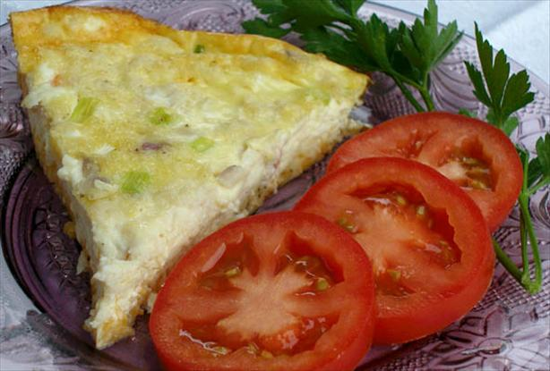 No Crust Crab Quiche
