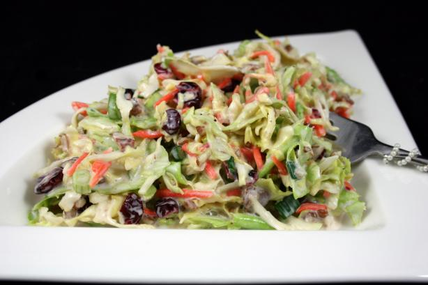 Simple Pecan-Cranberry Coleslaw