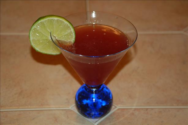 A Berry Lime Martini