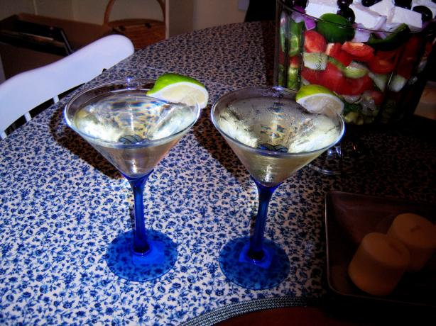 Lime and Elderflower Martini