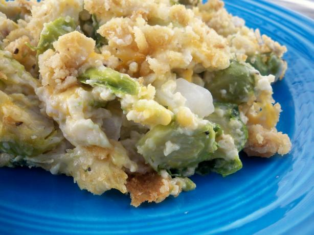 Three-Point Brussels-Sprouts Casserole