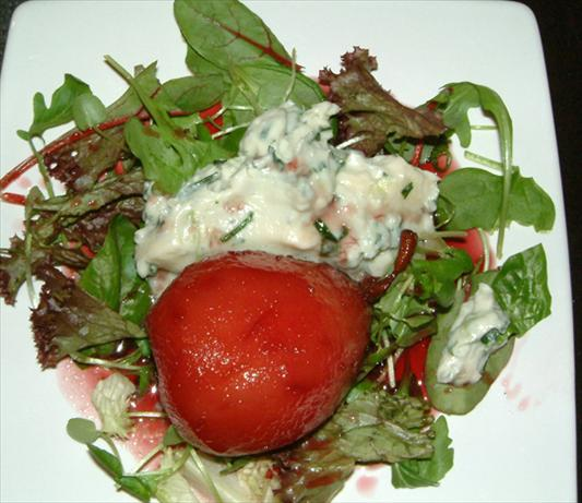 Mascarpone, Gorgonzola and Poached Pear Salad