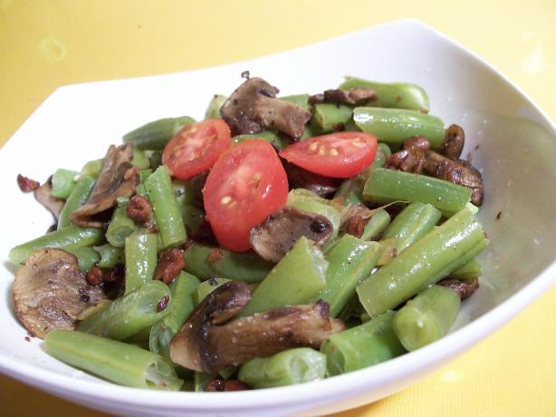Haricot Verts (Green Beans) , Wild Mushrooms With Hazelnuts