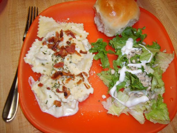 Creamy Chicken and Ravioli With Bacon