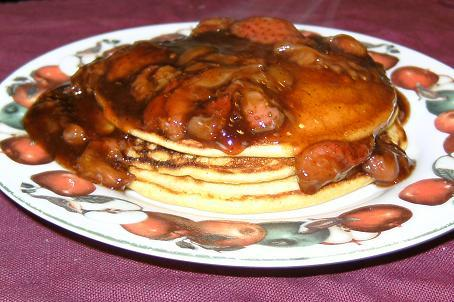 Polenta Pancakes With Warm Berry Sauce