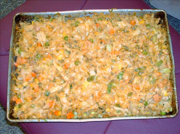 Brindy's Birthday Turkey Spiral Pasta Dinner Bake