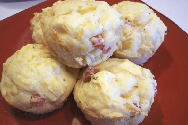 Ham and Onion Muffins