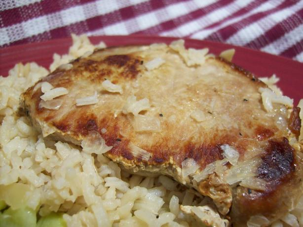 """ It's Too Easy"" Pork Chops & Rice Casserole"