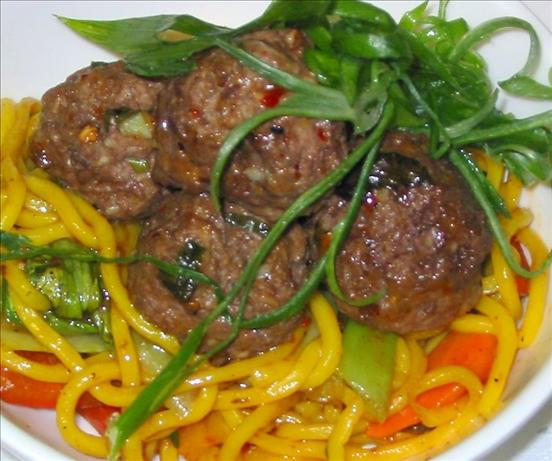 Sesame Meatballs Asian Style