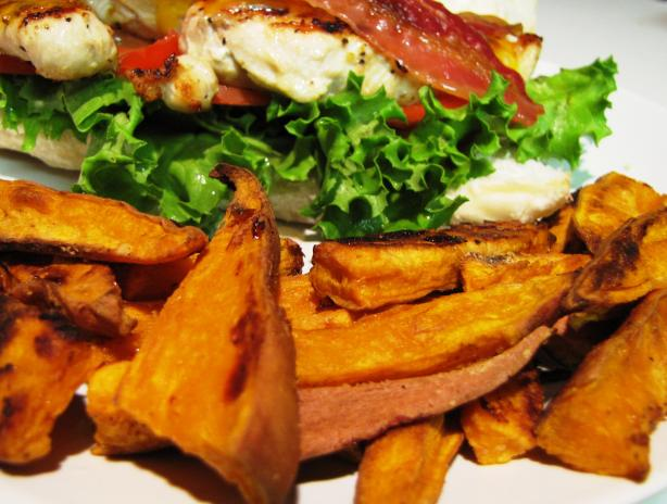 "Delish Sweet Potato ""fries"" Low Fat"