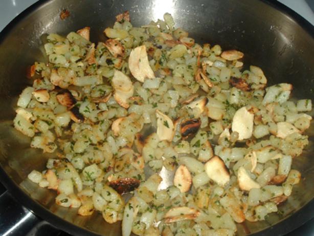 Potato Garlic Cubes