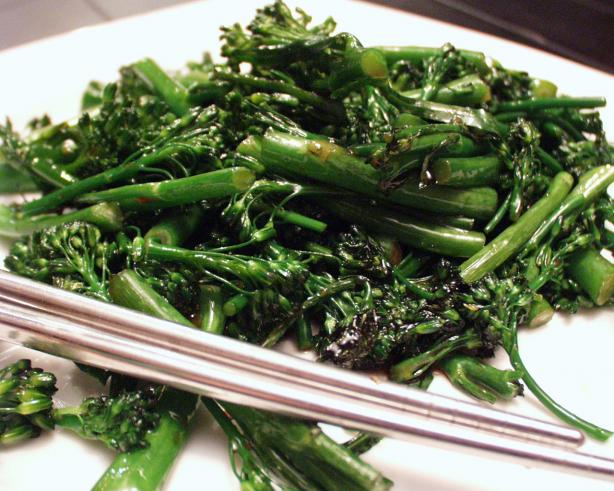 Easy Broccolini With Oyster Sauce
