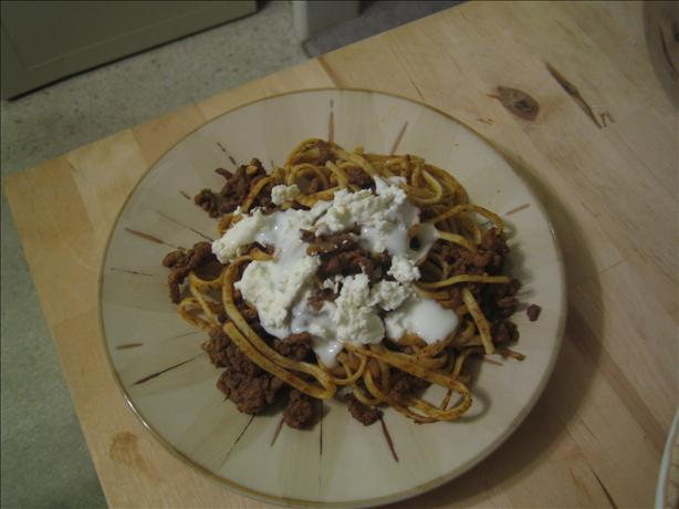 Sweet and Spicy Beef With Egg Noodles