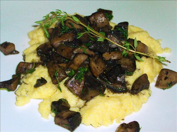 Herb Infused Polenta With Mushroom Ragout