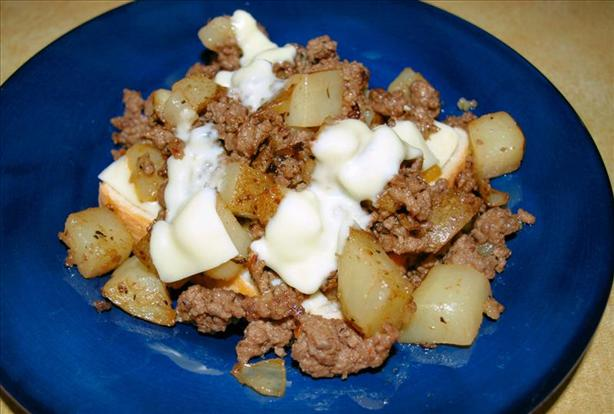 Potato Burger Dinner Hash