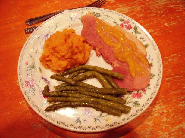 Glazed Ham Steak for 2