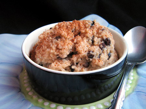 Cherry Couscous Pudding