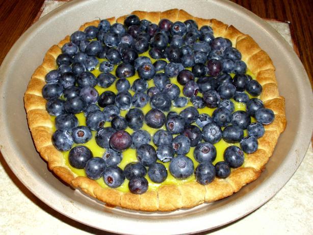 Lemon Blueberry Puff Tart