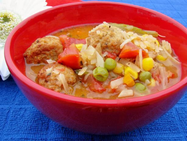 Super Easy Meatball Soup