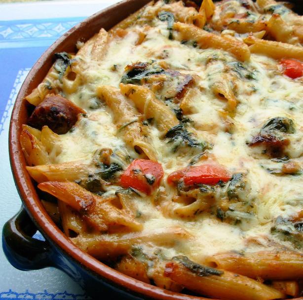 Make Ahead Italian Sausage and Pasta Bake