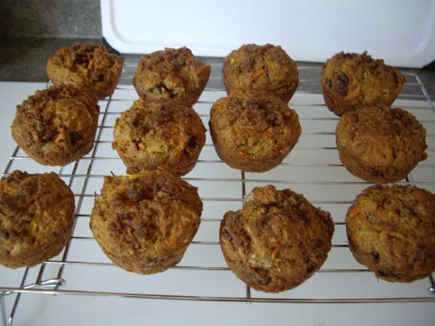 Healthy Carrot Zucchini Muffins