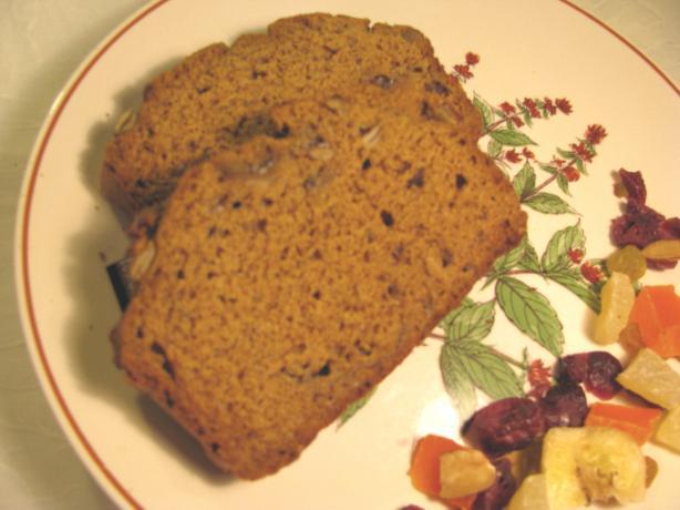 Cranberry Pumpkin Quick Bread With Splenda