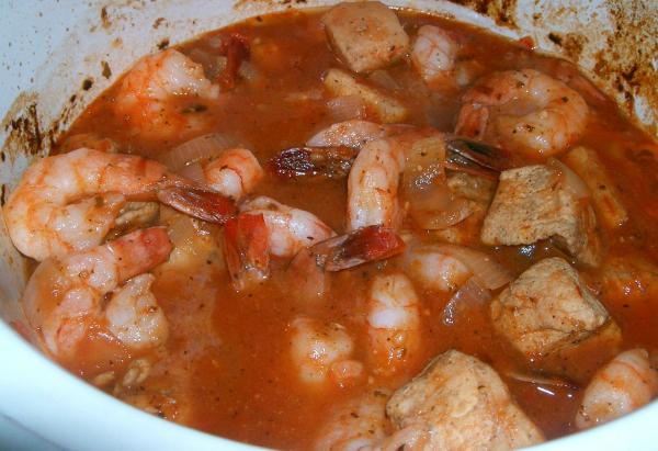 Crock Pot Herbed Chicken and Shrimp
