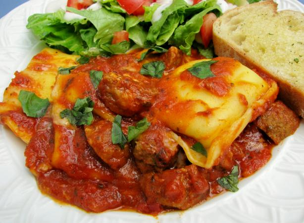 Ravioli and Meatball Bake