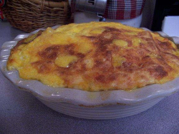 Impossible Macaroni and Cheese Pie