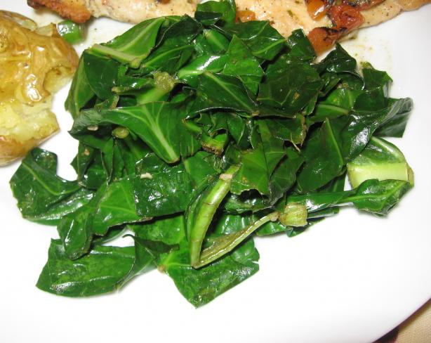 Greens With Garlic and Parmesan