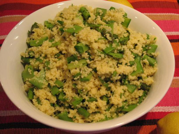 Couscous With Asparagus, Snow Peas and Radishes