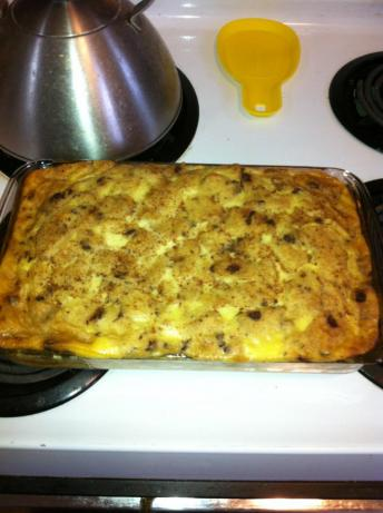 Raisin-Eggnog Bread Pudding
