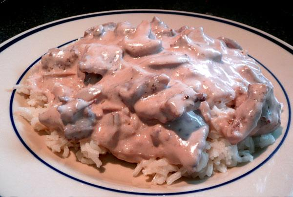 Best Ever Burgundy Stroganoff