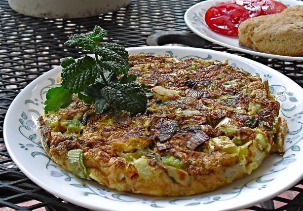 Frittata With Spring Herbs and Leeks