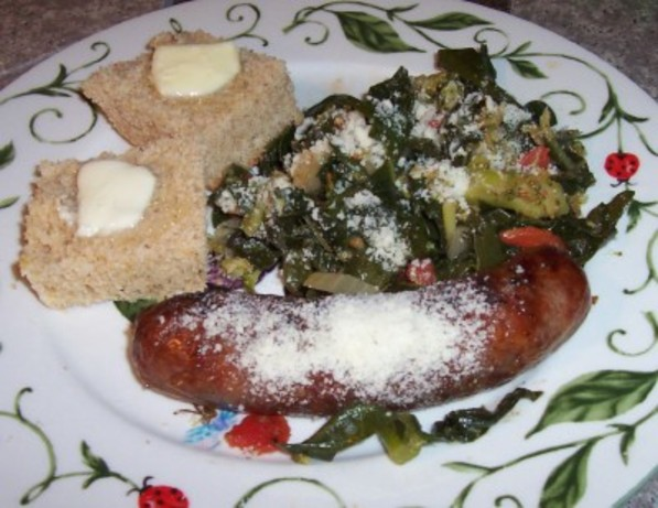 Italian Sausage With Broccoli and Collards (Or Kale)