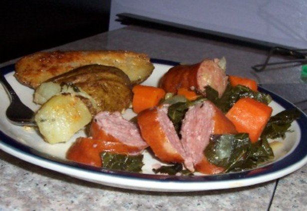 Kielbasa and Collards