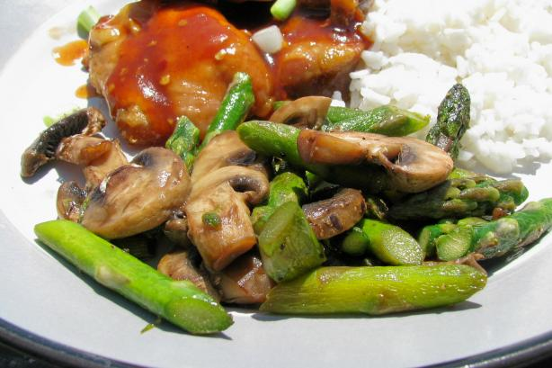 Asparagus With Mushrooms