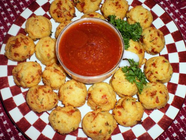 Italian Pepperoni Cheese Puffs
