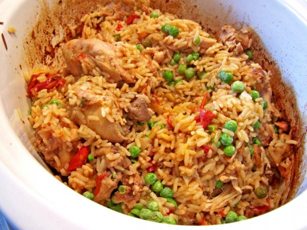 Slow Cooker Arroz Con Pollo