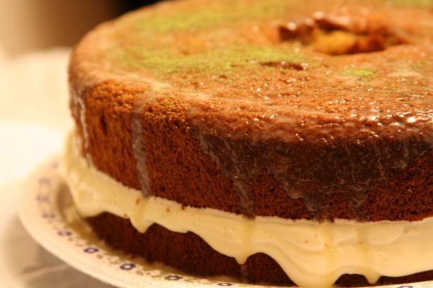 Green Tea Japanese Sponge Cake - Kasutera