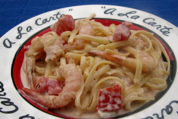 Emeril's Shrimp and Pasta in a Spicy Tomato-Chili Cream Sauce