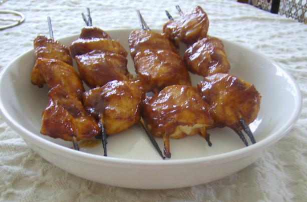 Indoor BBQ Chicken Skewers