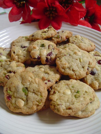 Sugar Cookies With Pistachio and Dried Cherries