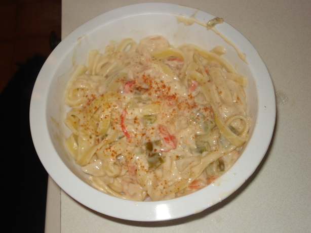 Mexican Seafood Fettuccine