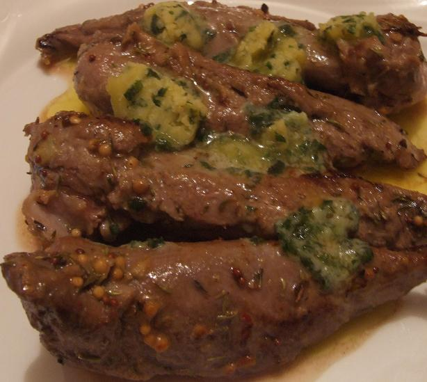 Veal Medallions With a Wasabi Herb Butter