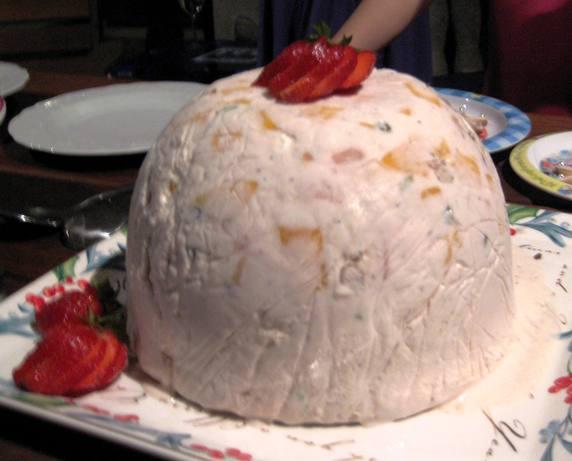 Summer Fruit and Nougat Ice-Cream Bombes