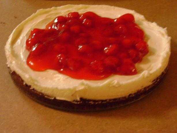 Cherry-Glazed Chocolate/Cream Cheese Torte