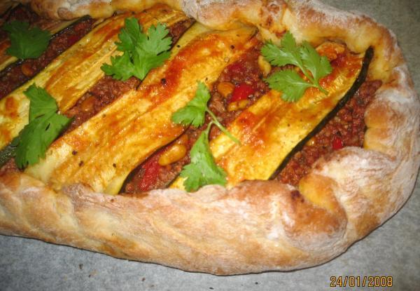Moroccan Lamb and Zucchini Pide