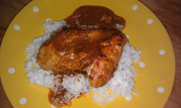 Chicken With Tomato Chocolate Sauce - Mole Style