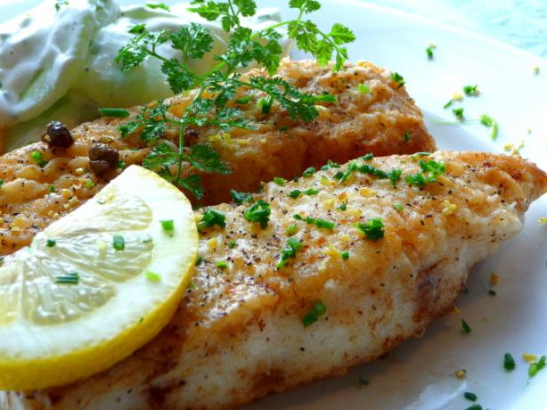 Halibut With Bright Lemon Cream Sauce